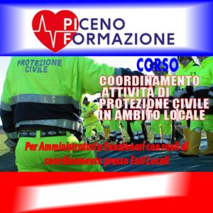 Coordinamento attività di protezione civile in ambito locale