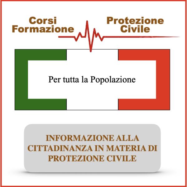 Info alla cittadinanza in materia di protezione civile